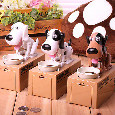 Choken Bako MECHANICAL Eating Doggy Coin Money Piggy Banks Saving Box Toy Gifts