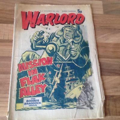 warlord comic no.8 november 16th 1974 Bronze Age -buy 2 Get 4 Free = 50p A Comic