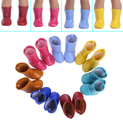 4 Colors Handmade Doll Shoes Boots For 18 Inch Girl Doll Accessory Toy Gift