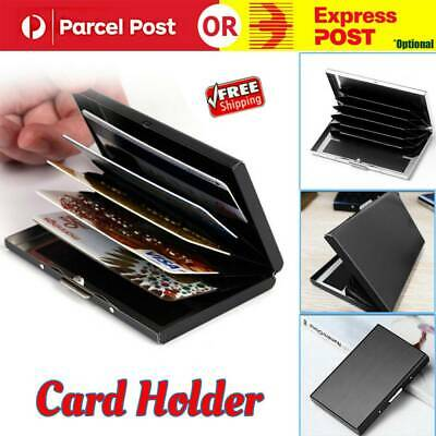 Deluxe Wallet ID Credit Card Holder Anti RFID Scanning Stainless Steel Case AU