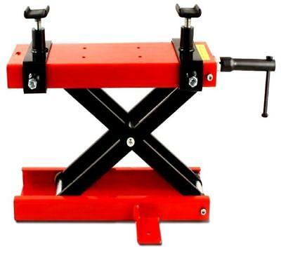 Motorcycle Motorbike Paddock Stand Scissor Lift Jack Workshop Table Bench