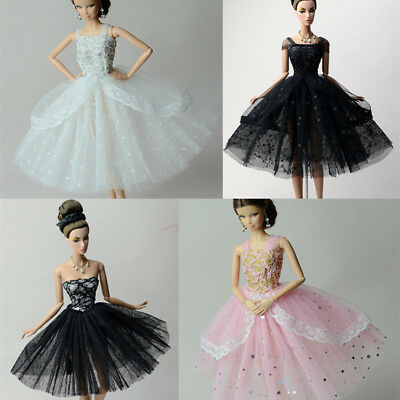 Dress Up Doll Evening Dress Multi-layer Skirt for Barbie Doll Nice GIft