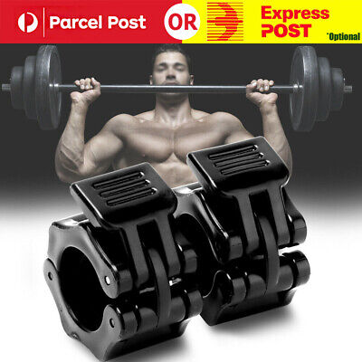 1 Pairs 25 mm Olympic Barbell Lock Clamp Collar Clip Dumbbell Spinlock Lifting