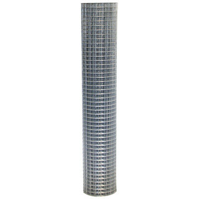 Wire Fencing 1.8m x 10m Welded Wire Mesh Strong Galvanised Steel Roll 50mm Holes