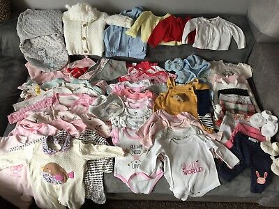 Bundle of Baby Girl's Clothes Age 0-3 months