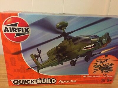 Airfix Quick Build Apache Helicopter Model Kit New Free Post