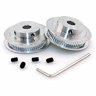 Aluminum Gt2 Timing Pulley Bore 8mm Teeth 60 For 3D Printer GT2 Timing Belt Of