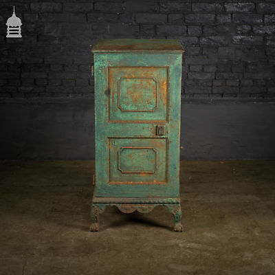 19th C Cast Iron Safe with Ornate Detail and Ball & Claw Feet