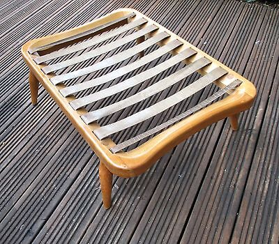 Lovely refinished 60s Blonde Ercol 341 footstool to match 203 lounge chair-Cambs