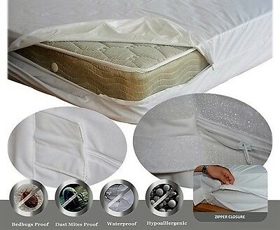 MATTRESS ENCASEMENT Bed Bug  PROTECTOR LUXURY Fabric Waterproof  HypoAllergenic