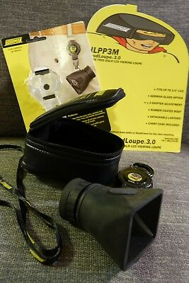 Hoodman Hood Loupe 3.0 For Glare Free Lcd Viewing, Zip Case + Retractable Link