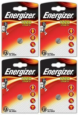 4x Energizer CR1220-C1 Litihium 3V Coin Cell CR 1220 Batteries (4 Batteries)