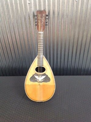 Vintage Mandolin with Handmade Eagle Mother of Pearl Inlay Pattern