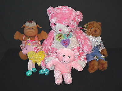 Lot of 5 Plush Stuffed Animals Toy 8 to 24 inches Dan Dee Cabbage Patch
