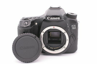 Canon EOS 70D 20.2MP Digital SLR Camera - Black (Body Only) - Shutter Count: 148