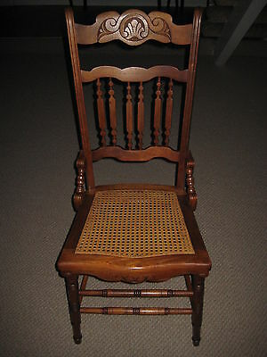 "Rare Old Vintage Beautiful Designed Wooden Chair, 40"" T X 18"" W X 18"" D, 10 Lbs"