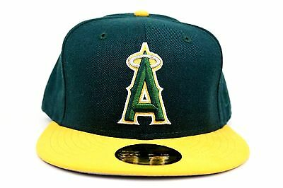 13b8c15ded8 Los Angeles Angels Dark Green Argent Gold Silver MLB New Era 59Fifty Fitted  Hat