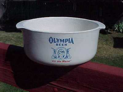 "8 1/4""  Diameter OLYMPIA BEER  ""TUMWATER"" Crock Bowl  Lots of Crazing No damage"