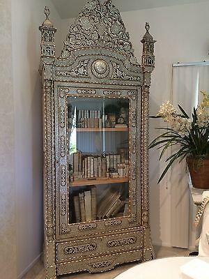 Antique Syrian Armoire and Bookcase