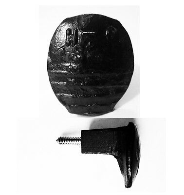 Black Easy Screw Railroad Spike Knob Door Pull Cupboard Antique Vintage Rustic