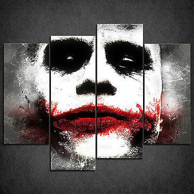 Joker Batman Movie Grunge Cascade Canvas Print Wall Art Picture Ready To Hang