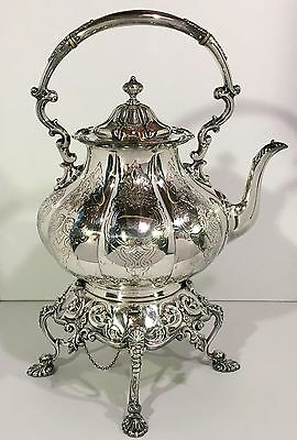 Large Antique SHEFFIELD English Silverplated TILTING TEAPOT