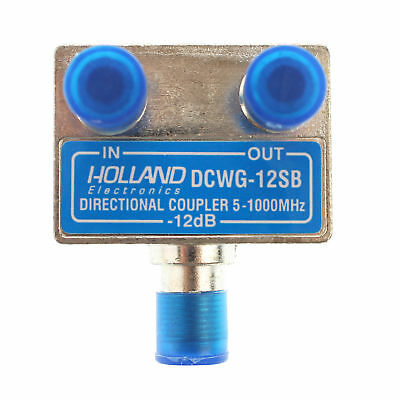 Holland Electronics Dcwg-12Sb Wall Plate Tap / Directional Coupler, 12Db