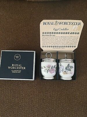 Royal Worcester Egg Coddlers June Garland