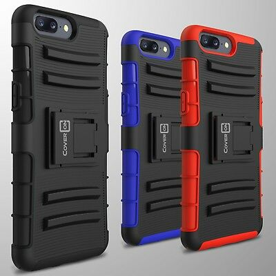 Protective Heavy Duty Kickstand Case & Belt Clip Holster for OnePlus 5