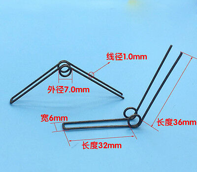 Wire Dia 1.0mm OD 7mm 36mm Length Double Torsion Spring 3PCS