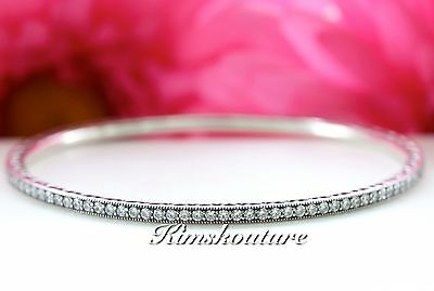 Authentic Pandora Silver Twinkling Forever Clear Bangle Bracelet 6.7inc 590511CZ