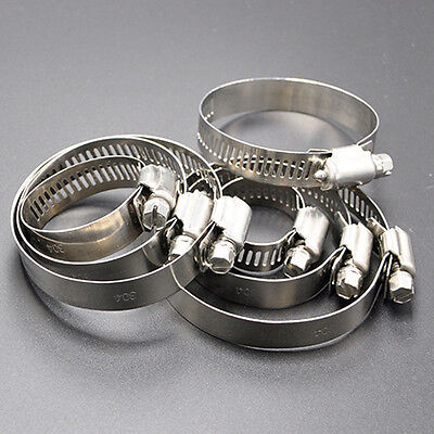 """10×1 3/8""""-2"""" Stainless Steel Drive Hose Clamp Fuel Line Worm Clip Easy to Use"""
