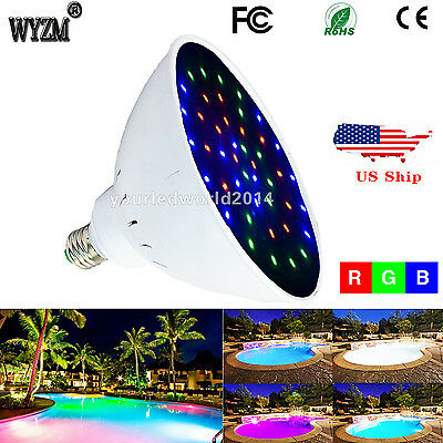 120V Color Change Swimming Pool Light LED PAR56 E27 direct replacement 400w bulb