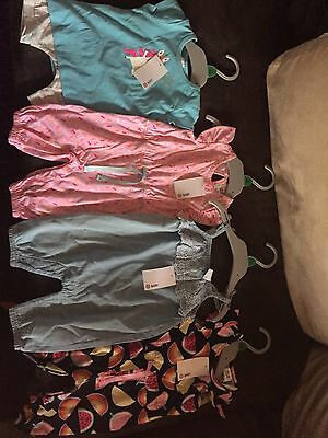 BRAND NEW Awesome Baby Girl's Summer Clothing Bundle x 4 Items  Sz 0/3