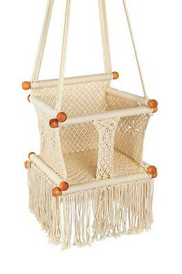 Baby/Kids Handmade soft Cotton Macrame Swing - Fairtrade