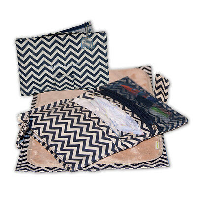 Baby Melobaby All-in-One Nappy Wallet and Change Mat - Grey Cheveron