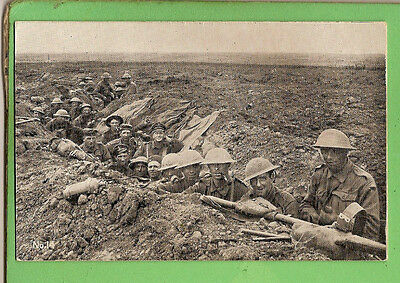 #n. Wwi Acf Postcard - Australians In The Trenches