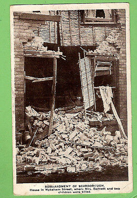 #N. Wwi  Postcard -  1917, Bombardment Of Scarborough