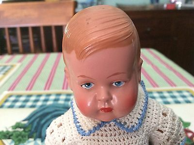 Vintage German Celluloid Doll In Beautiful Condition.