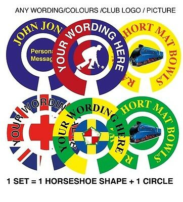 Personalised Bowls Stickers Any Words/photo 1 Inch Lawn Flatgreen & Indoor Bowls