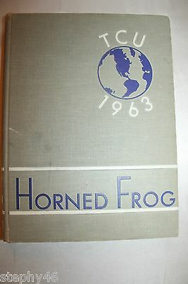 TCU Texas Christian University Horned Frogs 1963 Yearbook Annual Vol 59