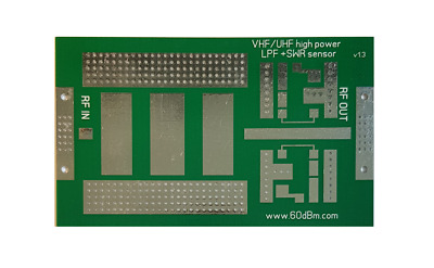 PCB for 1kw Low Pass Filter 50 mHz, 70 MHz, 144 MHz ,  222MHz, 432 MHz LPF