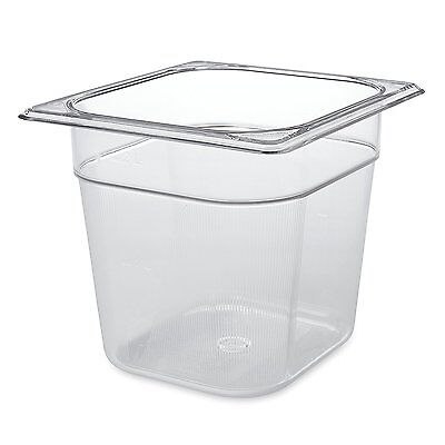 Rubbermaid Commercial Products 1/6 Size 2-1/2-Quart Cold Food Pan (FG106P00CLR)