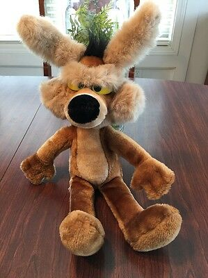 "Vintage 24K Mighty Star Wile E Coyote 18"" Plush 1993 Warner Bros."