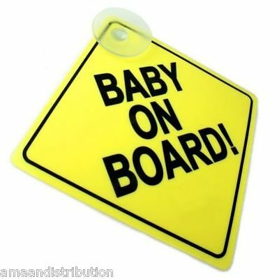 Quality Baby On Board Child Safety Suction Cups Car Vehicle Signs