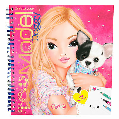Depesche Create your TOP Model Doggy Malbuch Sticker Christy 5418_A