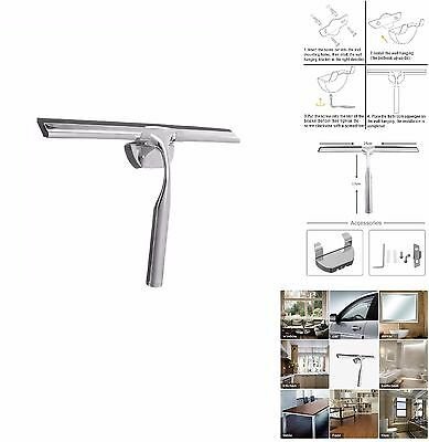 25CM Stainless Steel Multipurpose Smooth Squeegee w/ Screw Mounting & Fitting