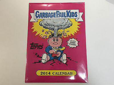 2014 Garbage Pail Kids Calendar with 4 Exclusive Lost Bonus Cards - Sealed