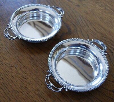 Pair Antique Joseph Angell Sterling Silver Dishes Coaster Hallmarked London 1902
