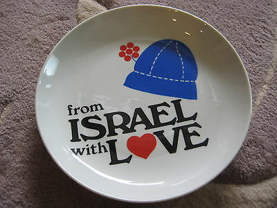 "Naaman ""From Israel With Love"" Porcelain Hanging Plate, 7 1.2"" Dia X 1"" High"